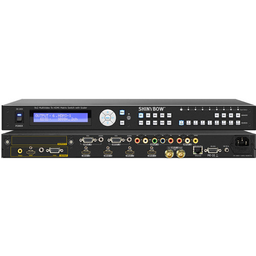 Shinybow 9 x 2 Multi-Format to HDMI/VGA/Composite Video Switcher with Scaler