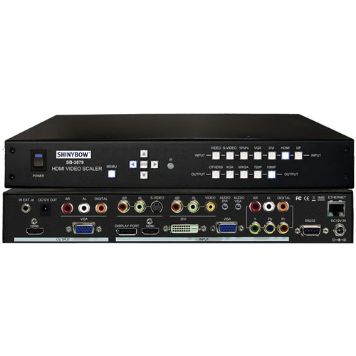 Shinybow SB-3879 7 x 2 Mirrored Multi-Format HDMI Video Scaler Selector Switch