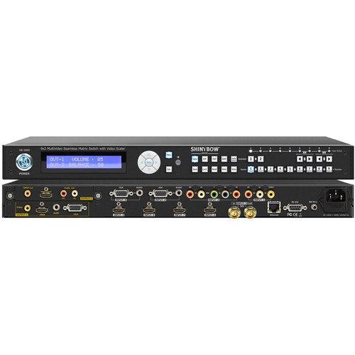 Shinybow 9x2 Multi-Format Seamless Matrix Routing Switch with Scaler