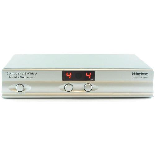 Shinybow SB-5450 4 x 2 Composite/S-Video/Audio Matrix Switcher