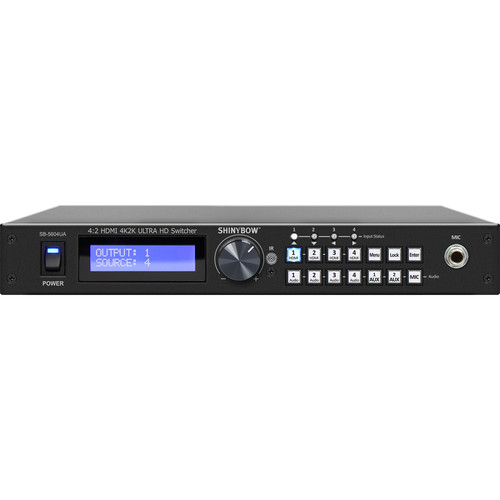Shinybow 4x2 Mirrored HDMI Routing Switcher with Audio