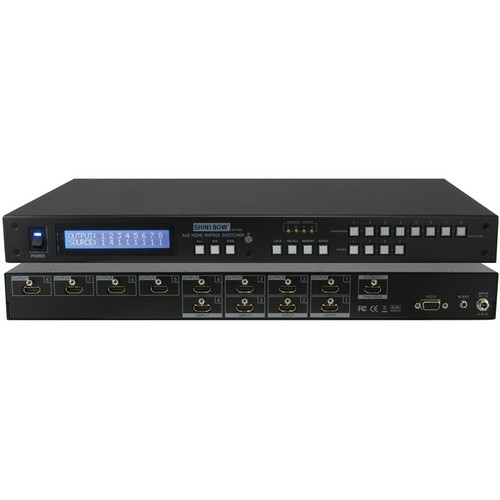 Shinybow SB-5648LCM 4 x 8 HDMI Matrix Routing Switcher