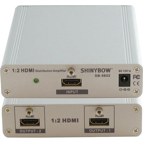 Shinybow SB-5652 1x2 HDMI Distribution Amplifier