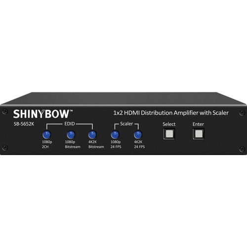 Shinybow 1x2 4K2K HDMI Distribution Amplifier with Scaler