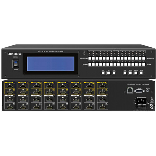 Shinybow 16 x 16 HDMI Matrix Routing Switcher with Full EDID Management / Learning
