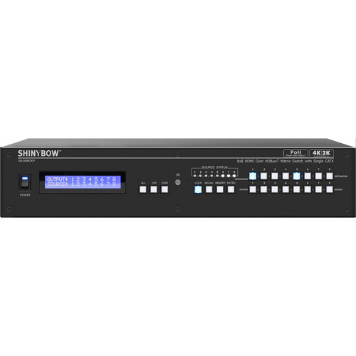 Shinybow 8 x HDMI In to 8 x HDMI or HDBaseT PoH Out Matrix Routing Switcher