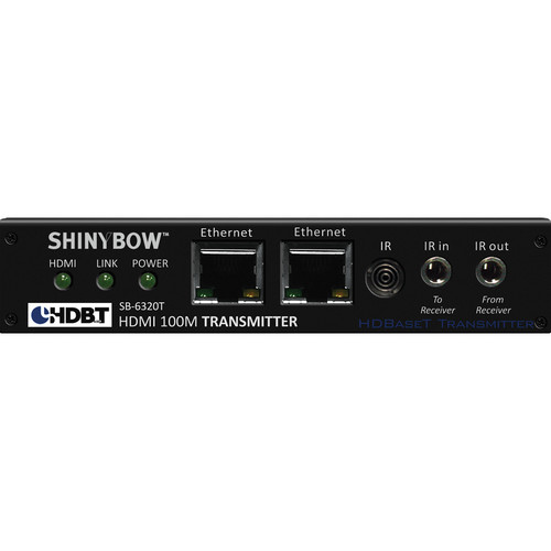 Shinybow SB-6320T HDMI HDBaseT Transmitter with Dual LAN, 2-Way IR, RS-232, and Audio for DVI