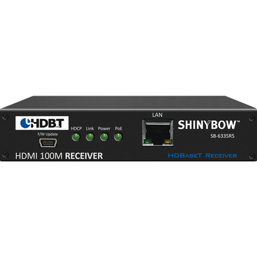 Shinybow SB-6335R5 HDMI over HDBaseT & Ethernet Receiver with PoH (328')