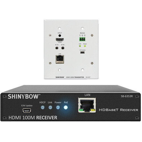 Shinybow SB-6353T/R HDMI HDBaseT Wall Plate Transmitter & Receiver Kit with PoH