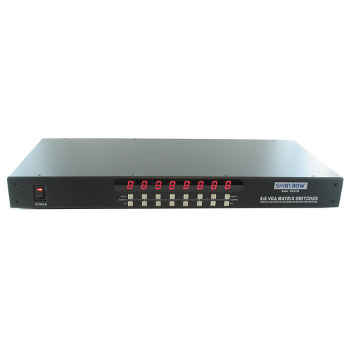 Shinybow SB-8180 8 x 8 VGA Matrix Routing Switch with IR & RS-232 Control