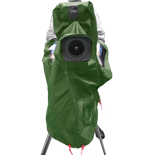 ShooterSlicker MTO-S10-GR 10MON Raincover for ENG/EFP Studio Camera (Hunter Green)