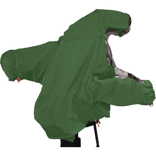 "ShooterSlicker MTO-S5-GR-10MON Raincover for Studio Camera with Box Lens and 10 - 12"" Monitor (Hunter Green)"