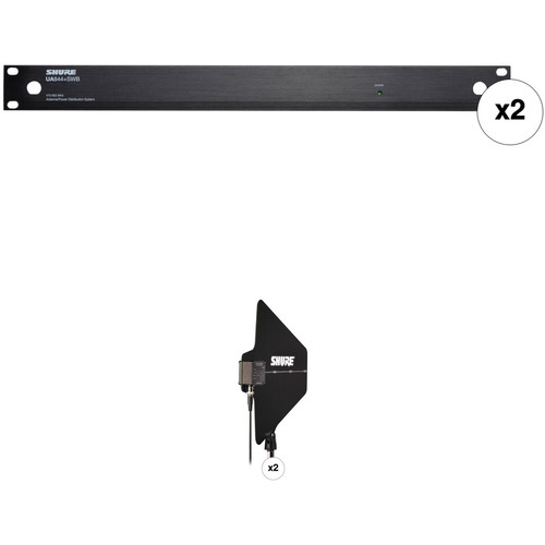 Shure 2 x UA844+SWB UHF Antenna Distribution Systems with Active Directional Antennas Kit (6 to 9 Systems)
