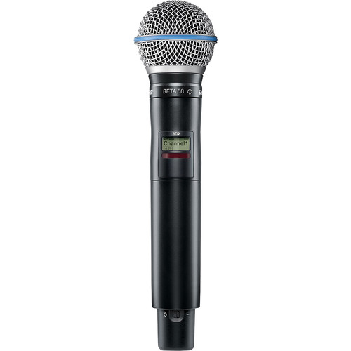 Shure AD2/B58-G57 Axient Digital Wireless Handheld Transmitter with BETA 58A Mic Head (G57: 470 to 616 MHz)