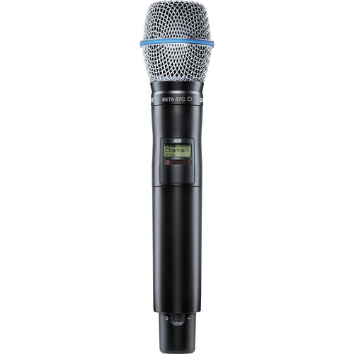 Shure AD2/87C Digital Handheld Wireless Microphone Transmitter with Beta 87C Capsule (G57: 470 to 616 MHz)