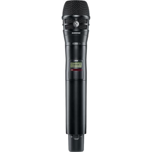 Shure AD2/KSM8B Digital Handheld Wireless Microphone Transmitter with KSM8 Capsule (G57: 470 to 616 MHz, Black)