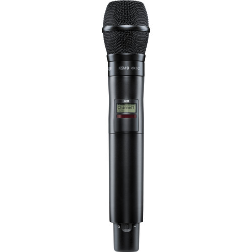 Shure AD2/KSM9B Digital Handheld Wireless Microphone Transmitter with KSM9 Capsule (G57: 470 to 616 MHz, Black)