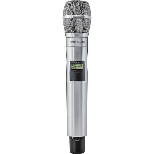 Shure AD2/KSM9HSN Digital Handheld Wireless Microphone Transmitter with KSM9HS Capsule (G57: 470 to 616 MHz, Nickel)