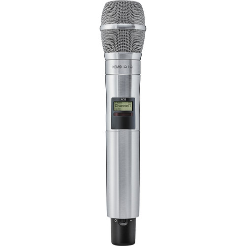 Shure AD2/KSM9N Digital Handheld Wireless Microphone Transmitter with KSM9 Capsule (G57: 470 to 616 MHz, Nickel)