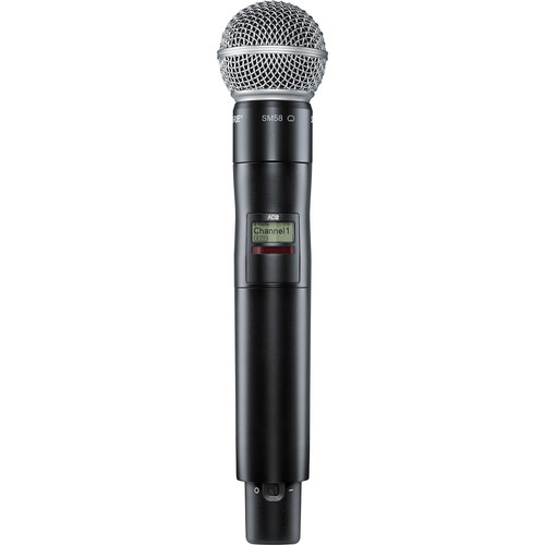 Shure AD2/SM58 Digital Handheld Wireless Microphone Transmitter with SM58 Capsule (G57: 470 to 616 MHz)