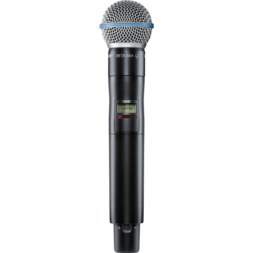 Shure ADX2/B58 Digital Handheld Wireless Microphone Transmitter with Beta 58A Capsule (G57: 470 to 616 MHz)