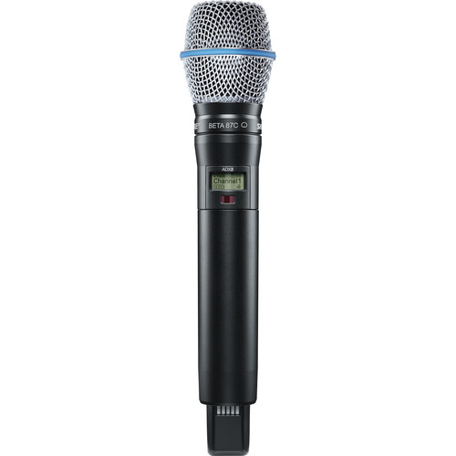 Shure ADX2/B87C Handheld Wireless Microphone Transmitter (G57: 470 to 616 MHz, Black)