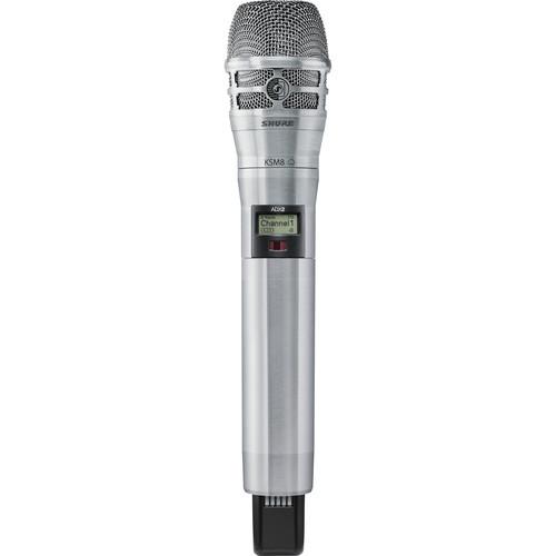 Shure ADX2/K8N Digital Handheld Wireless Microphone Transmitter with KSM8 Capsule (G57: 470 to 616 MHz, Nickel)