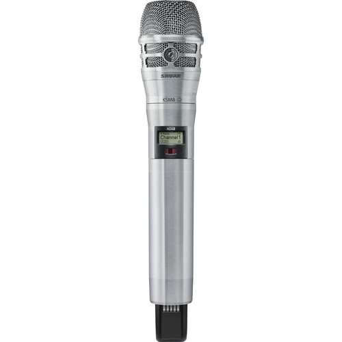 Shure ADX2/K8N Handheld Wireless Microphone Transmitter (G57: 470 to 616 MHz, Nickel)