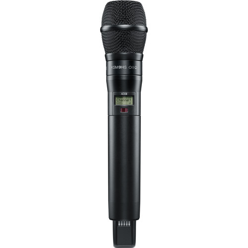 Shure ADX2/KSM9HSB Handheld Wireless Microphone Transmitter (G57: 470 to 616 MHz, Black)