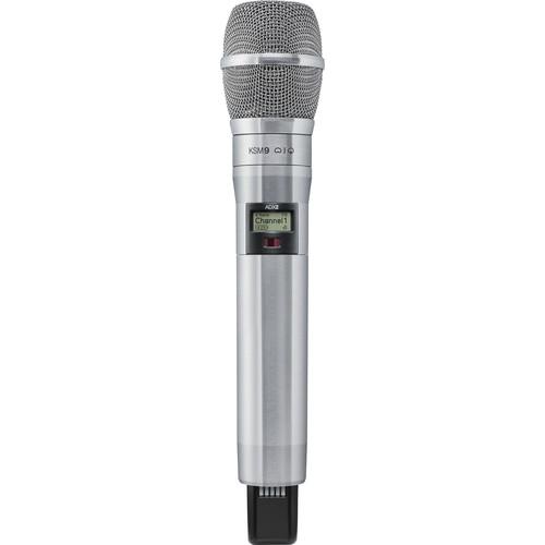 Shure ADX2/K9N Digital Handheld Wireless Microphone Transmitter with KSM9 Capsule (G57: 470 to 616 MHz, Nickel)