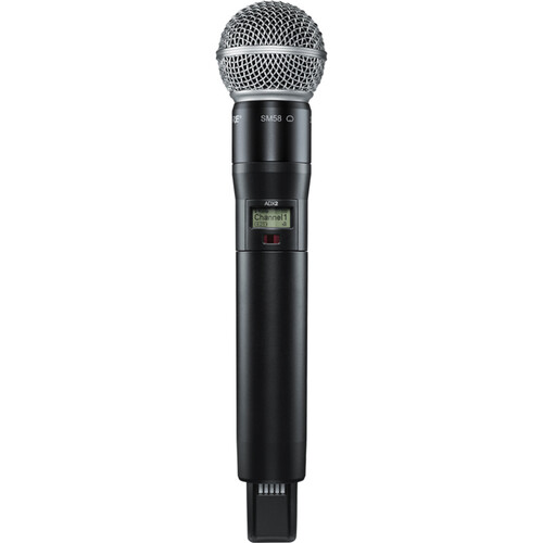 Shure ADX2/SM58 Digital Handheld Wireless Microphone Transmitter with SM58 Capsule (G57: 470 to 616 MHz)