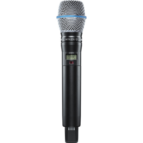 Shure ADX2FD/B87A ShowLink-Enabled Frequency Diversity Handheld Transmitter (G57: 470 to 616 MHz, Black)