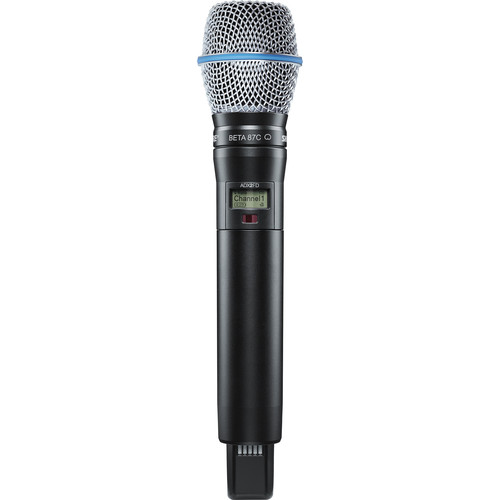 Shure ADX2FD/B87C ShowLink-Enabled Frequency Diversity Handheld Transmitter (G57: 470 to 616 MHz, Black)