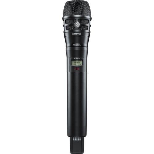 Shure ADX2FD/K8B Digital Handheld Wireless Microphone Transmitter with KSM8 Capsule (G57: 470 to 616 MHz, Black)