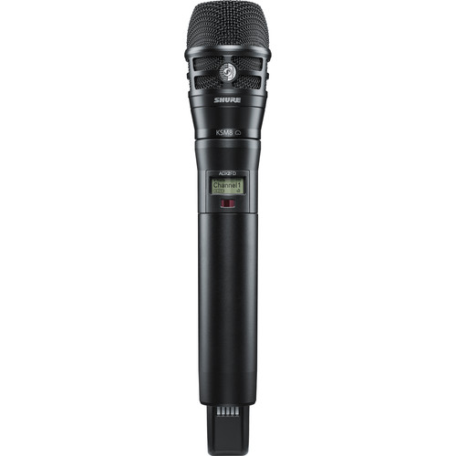 Shure ADX2FD/K8B ShowLink-Enabled Frequency Diversity Handheld Transmitter (G57: 470 to 616 MHz, Black)
