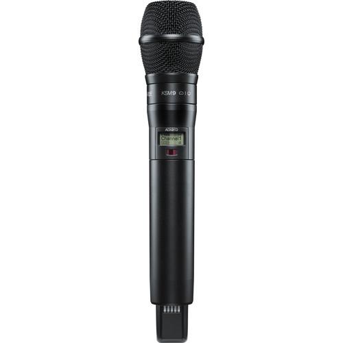 Shure ADX2FD/K9B Digital Handheld Wireless Microphone Transmitter with KSM9 Capsule (G57: 470 to 616 MHz, Black)