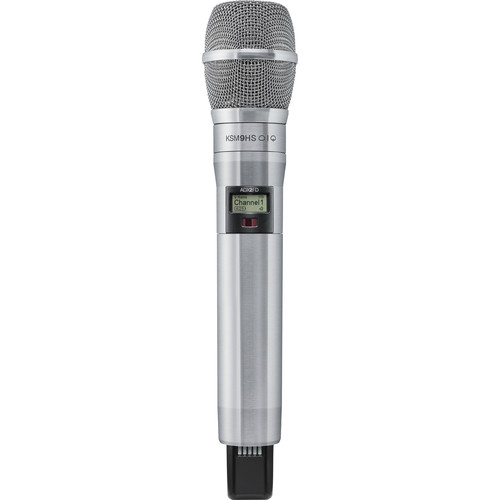 Shure ADX2FD/K9HSN Digital Handheld Wireless Microphone Transmitter with KSM9HS Capsule (G57: 470 to 616 MHz, Nickel)