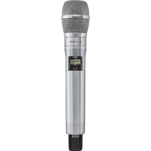 Shure ADX2FD/K9N Digital Handheld Wireless Microphone Transmitter with KSM9 Capsule (G57: 470 to 616 MHz, Nickel)