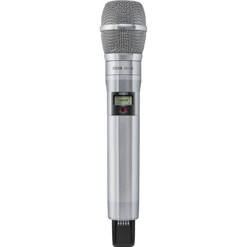Shure ADX2FD/K9N ShowLink-Enabled Frequency Diversity Handheld Transmitter (G57: 470 to 616 MHz, Nickel)