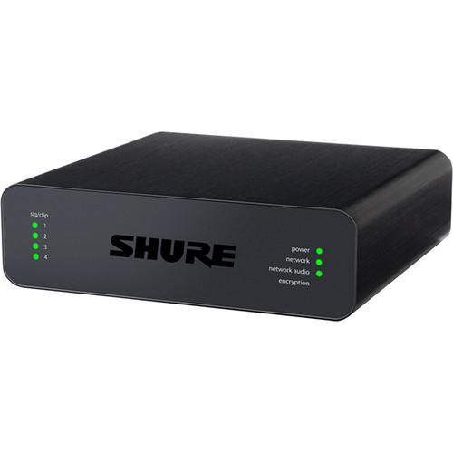Shure Microflex Advance 4-Channel Dante Mic/Line Audio Network Interface Unit (XLR Inputs)