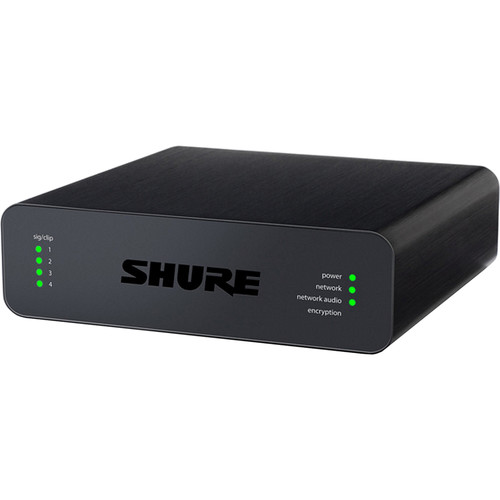 Shure Microflex Advance 4-Channel Dante Mic/Line Audio Network Interface Unit (XLR Outputs)