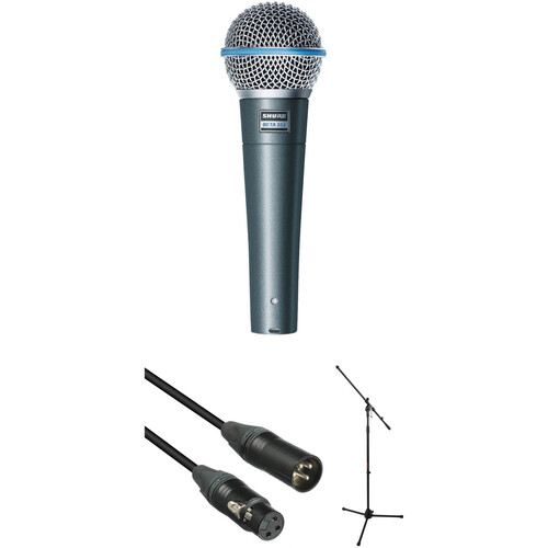 Shure Beta 58A Dynamic Vocal Microphone with Stand and Cable Kit