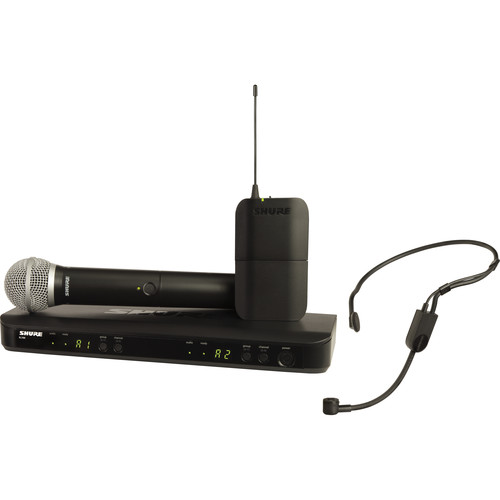 Shure BLX1288/P31 Dual-Channel Headset & Handheld Combo Wireless Mic System (H10: 542 - 572 MHz)