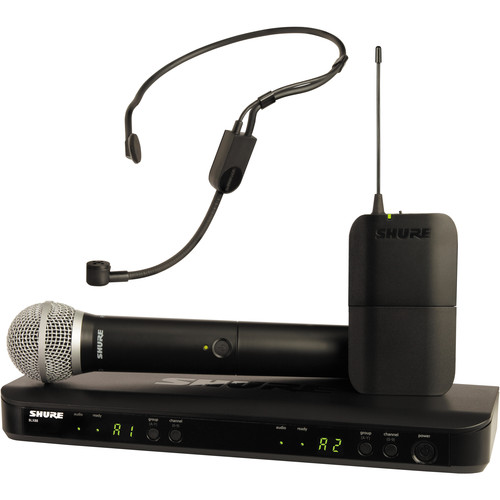 Shure BLX1288/P31 Dual-Channel Headset & Handheld Combo Wireless Mic System (J10: 584 - 608 MHz)