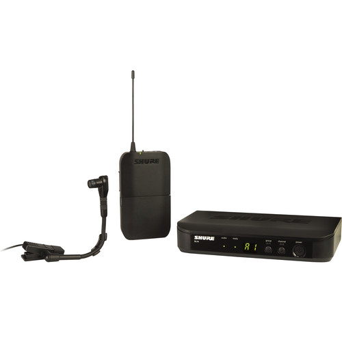 Shure BLX14/B98 Wireless Cardioid Instrument Microphone System (H10: 542 to 572 MHz)