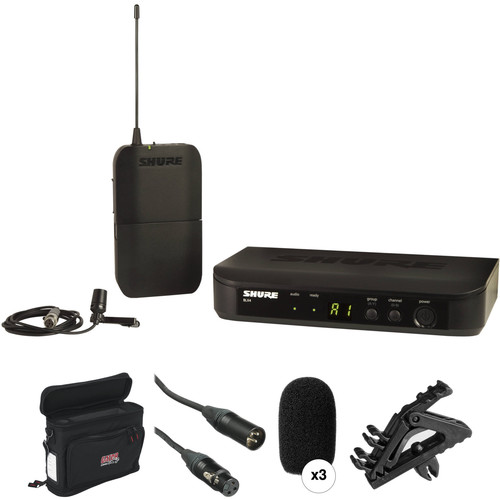 Shure BLX14/CVL Lavalier Wireless Microphone System and Basic Kit (H9: 512 - 542 MHz)