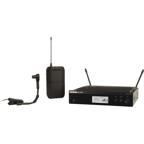 Shure BLX14R/B98 Rackmount Wireless Cardioid Instrument Microphone System (H9: 512 to 542 MHz)