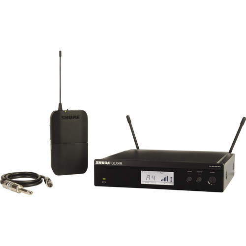 Shure BLX14R Single-Channel Bodypack Wireless System for Guitar or Bass (H9: 512 to 542 MHz)