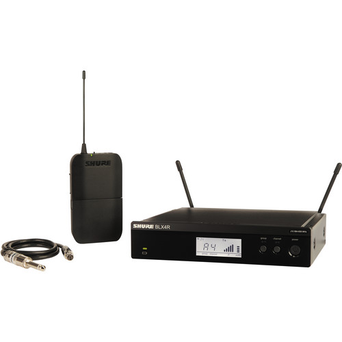 Shure BLX14R Single-Channel Bodypack Wireless System for Guitar or Bass (J10: 584 - 608 MHz)