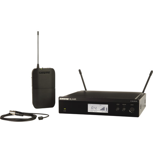 Shure BLX14R/W93 Rackmount Wireless Omni Lavalier Microphone System (H9: 512 to 542 MHz)